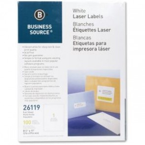 100 Etiquetas Blancas Business Source 1 Por Hoja/100hjs Por Caja