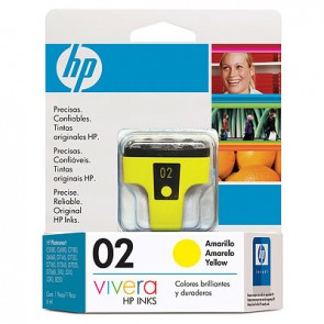 HP 02 YELLOW INK CARTRIDGE LAR .