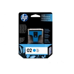 HP 02 CYAN INK CARTRIDGE LAR .