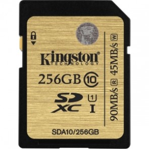 Kingston 256g Clase 10 Sdhc/sdx Uhs-i 90mb/s Lectura  45mb/s Escrit