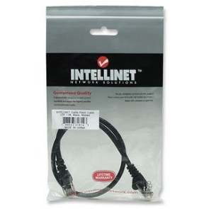 Cable de red Intellinet, Patch, 1.5m (5.0f) Cat 5e, UTP, Negro