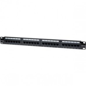 Panel Parcheo Cat 6  24 Ptos 1 Niv. Rack