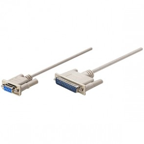 Cable Null Modem Db9h- Db25m 1.8m  Mol