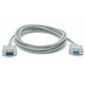 CABLE EXTENSOR SERIAL 3M MODEM NULO NULL RS232 HEMBRA A MACHO