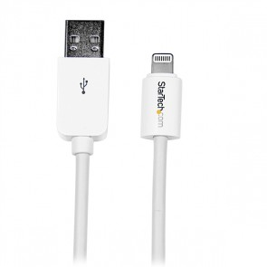 Cable 2m Lightning Apple Ipod Ipad Iphone 5 A Usb 2.0 Blanco