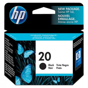 HP 20 BLACK INK CARTRIDGE 610C 612C 630C 640C 656C 642C *RI