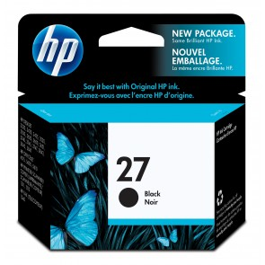 HP 27 BLACK INK CARTRIDGE LAR .